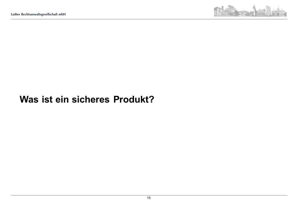 Definition von Produktsicherheit