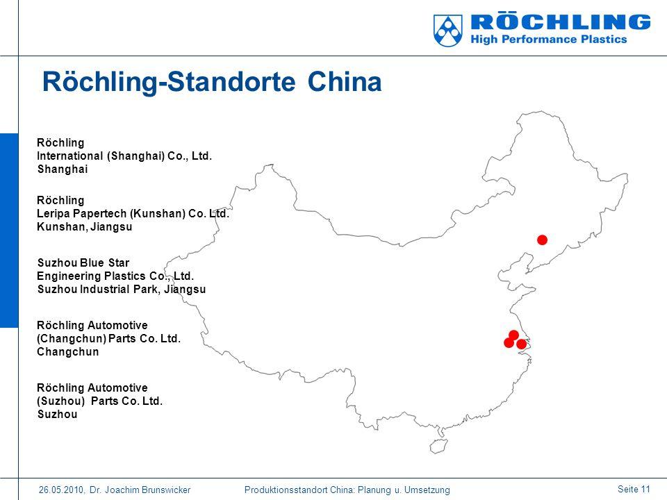 Röchling-Standorte China
