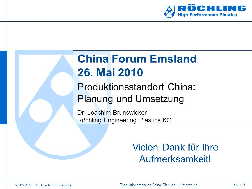 China Forum Emsland 26. Mai 2010
