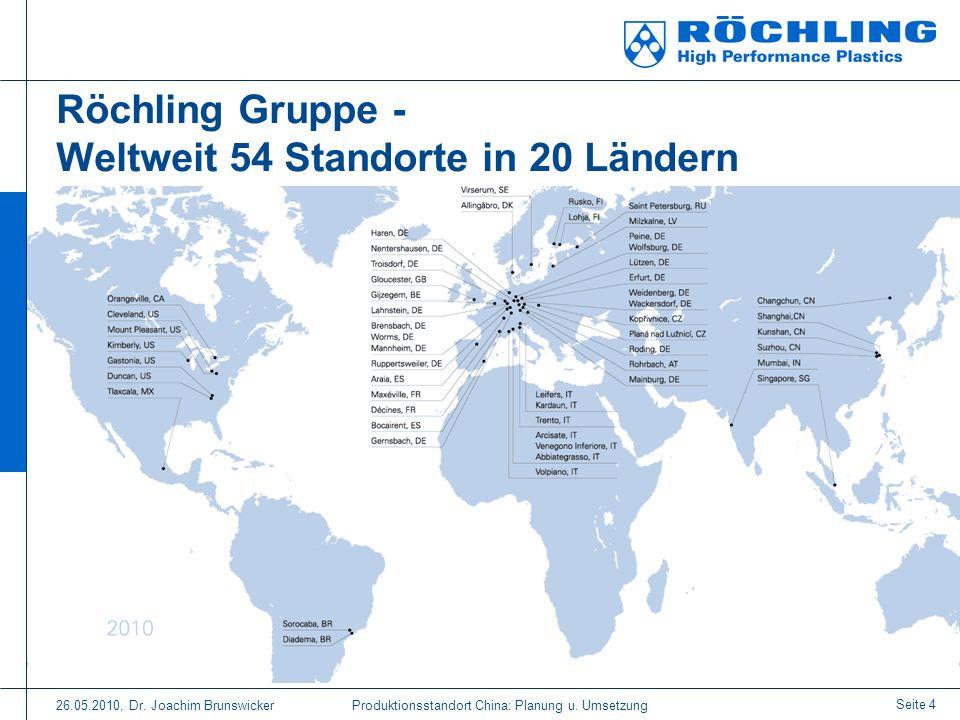 Röchling Gruppe - Weltweit 54 Standorte in 20 Ländern