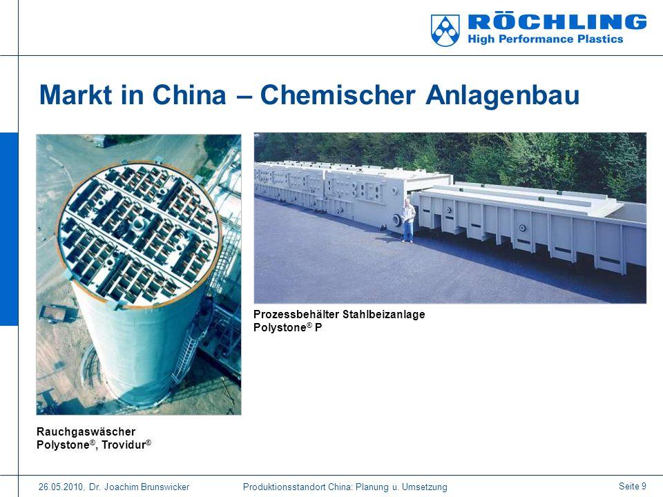 Markt in China – Chemischer Anlagenbau