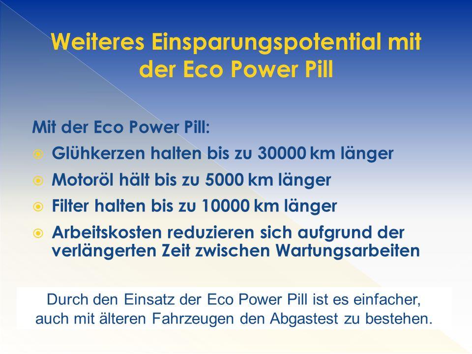 Weiteres Einsparungspotential mit der Eco Power Pill
