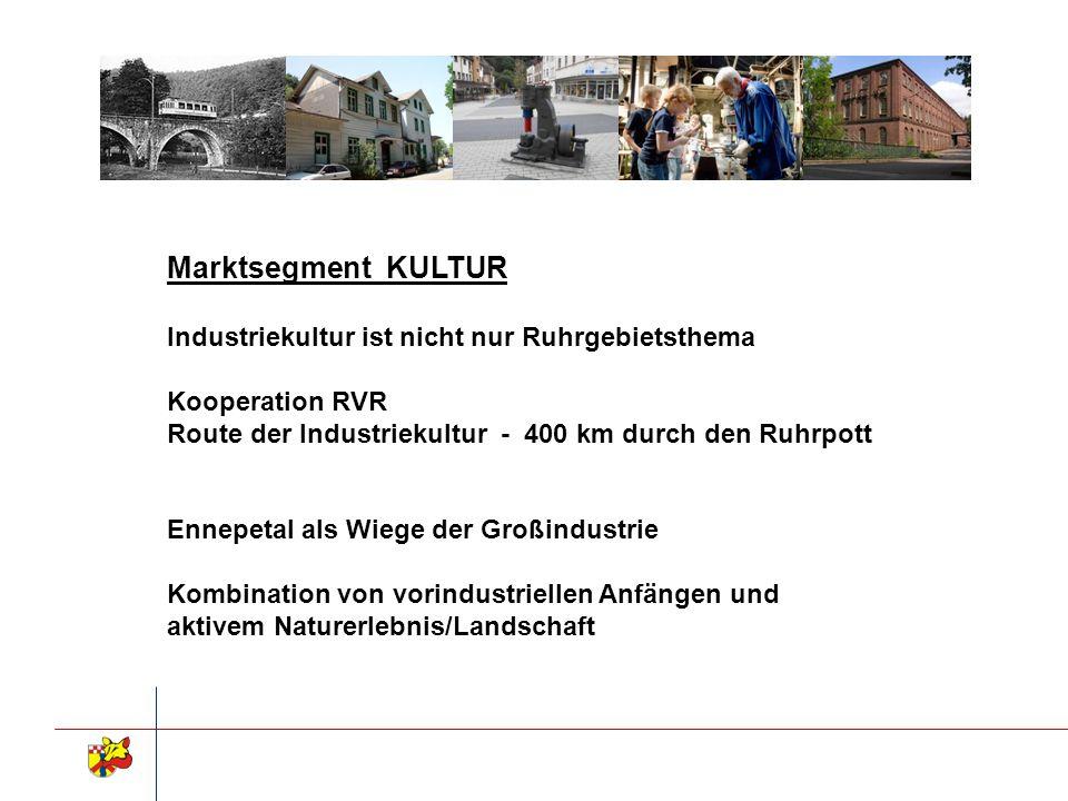 Marktsegment KULTUR Industriekultur ist nicht nur Ruhrgebietsthema