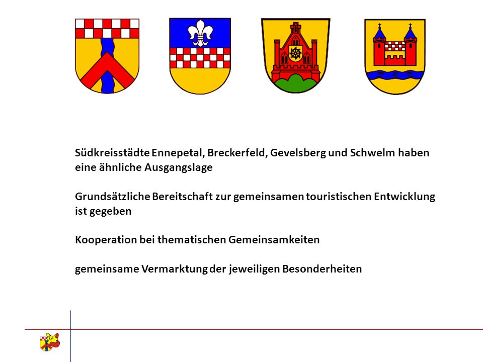 Südkreisstädte Ennepetal, Breckerfeld, Gevelsberg und Schwelm haben eine ähnliche Ausgangslage