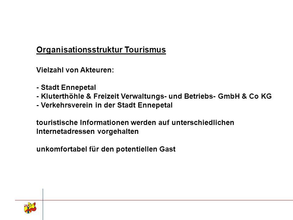 Organisationsstruktur Tourismus