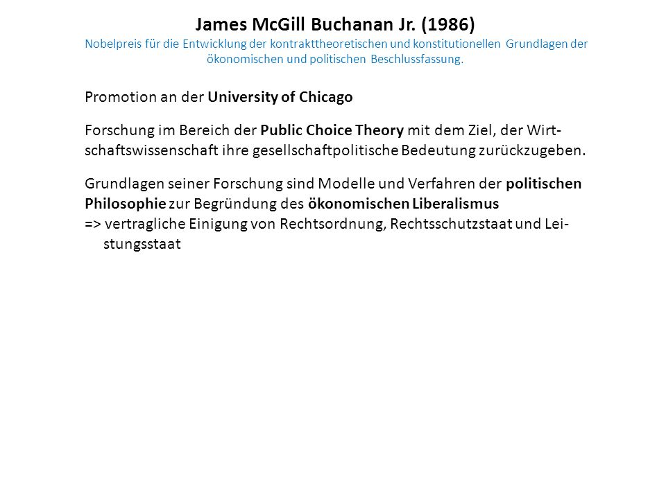 James McGill Buchanan Jr