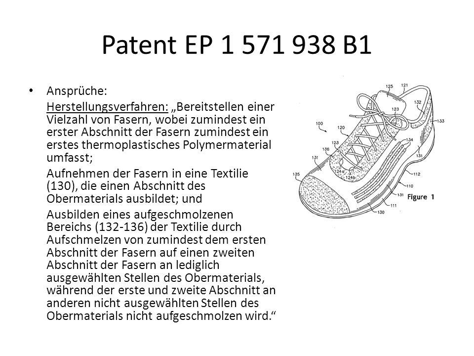 Patent EP 1 571 938 B1 Ansprüche: