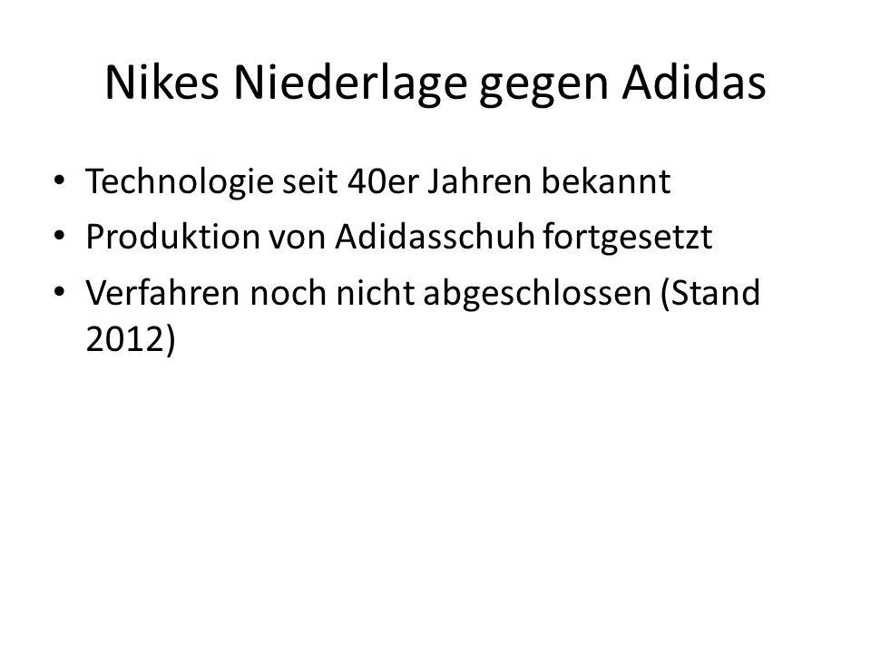 Nikes Niederlage gegen Adidas