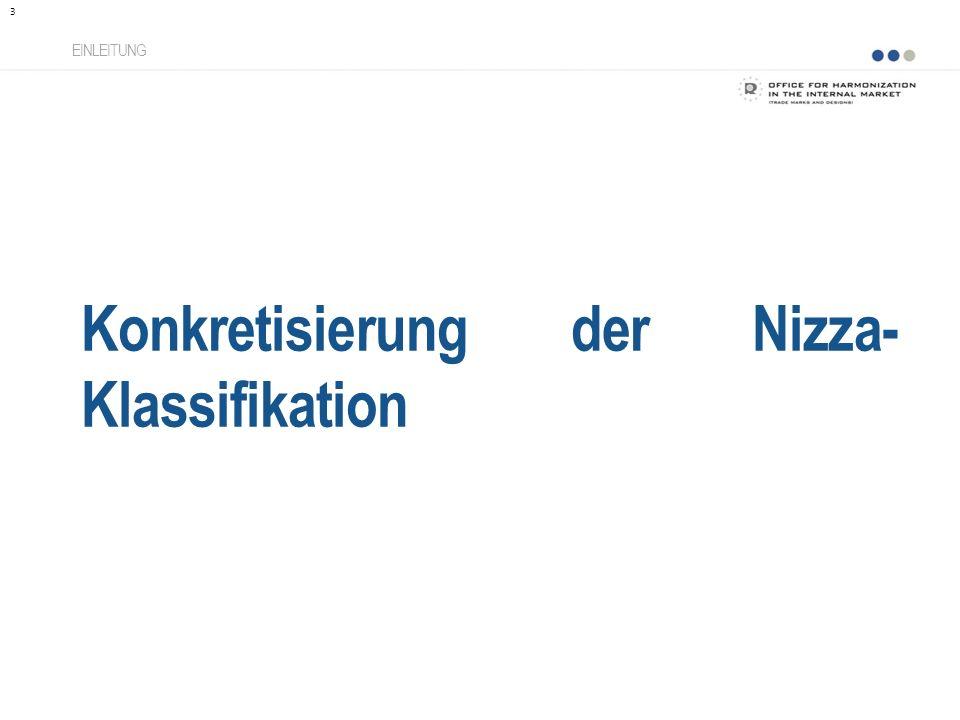 Konkretisierung der Nizza-Klassifikation