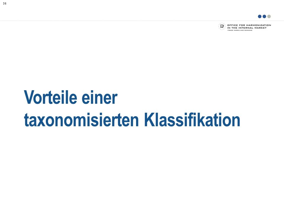 taxonomisierten Klassifikation
