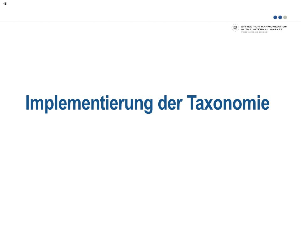 Implementierung der Taxonomie