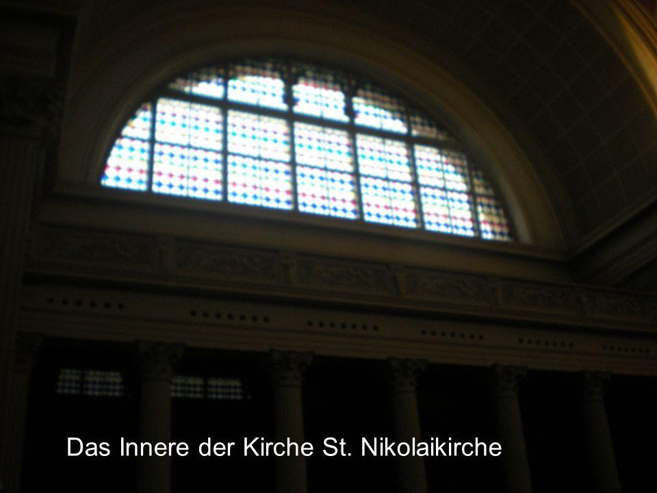 Das Innere der Kirche St. Nikolaikirche