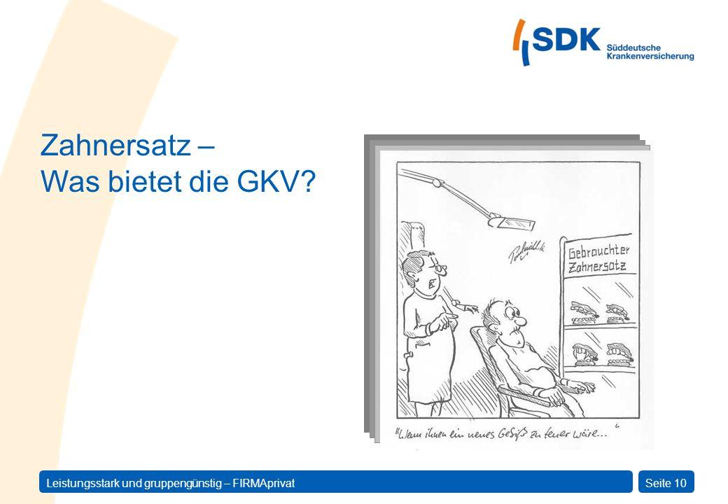 Zahnersatz – Was bietet die GKV
