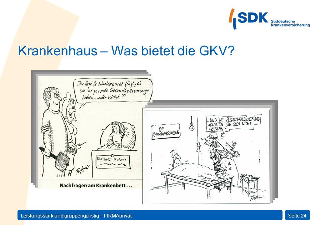 Krankenhaus – Was bietet die GKV