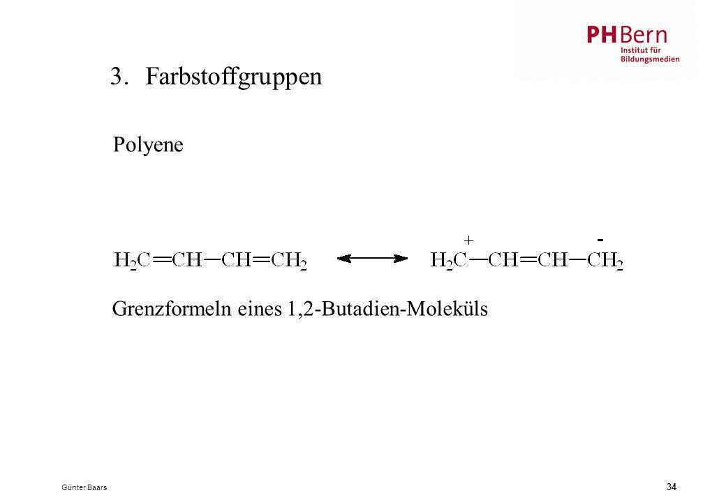 3. Farbstoffgruppen Polyene Grenzformeln eines 1,2-Butadien-Moleküls