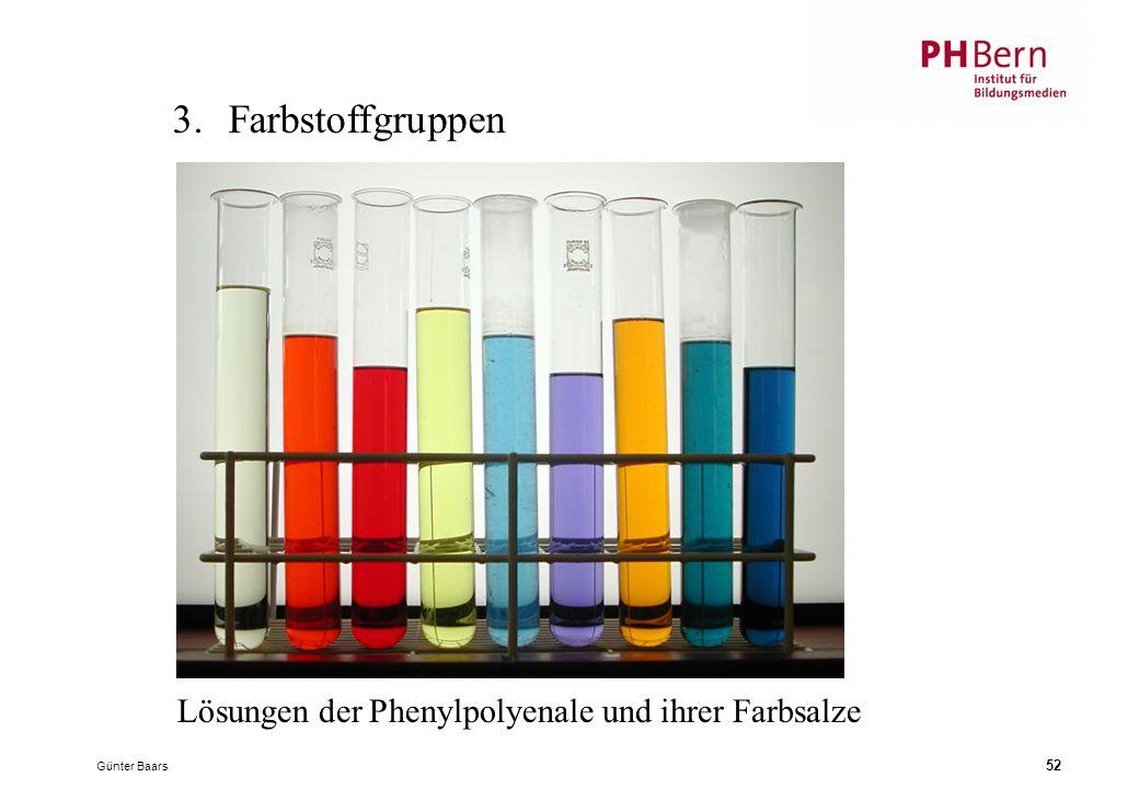 3. Farbstoffgruppen Lösungen der Phenylpolyenale und ihrer Farbsalze