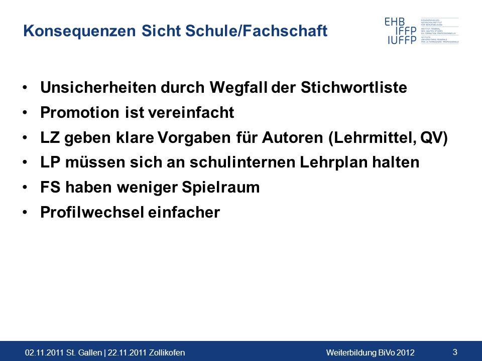 Konsequenzen Sicht Schule/Fachschaft