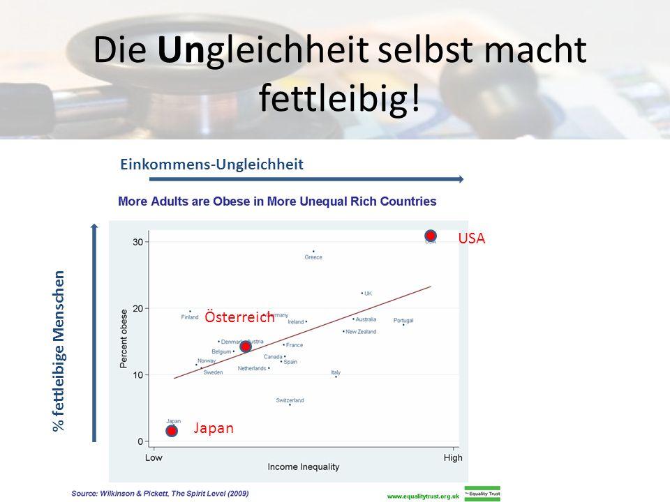 Die Ungleichheit selbst macht fettleibig!