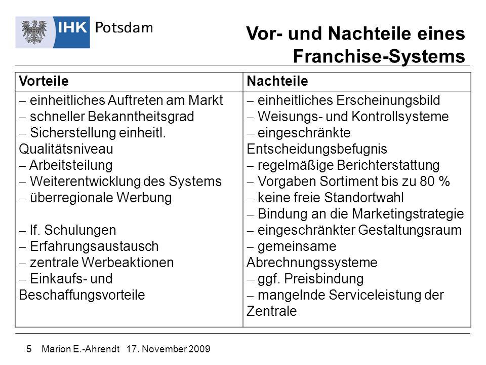 Vor- und Nachteile eines Franchise-Systems