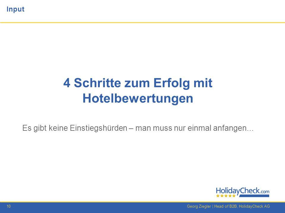 4 Schritte zum Erfolg mit Hotelbewertungen