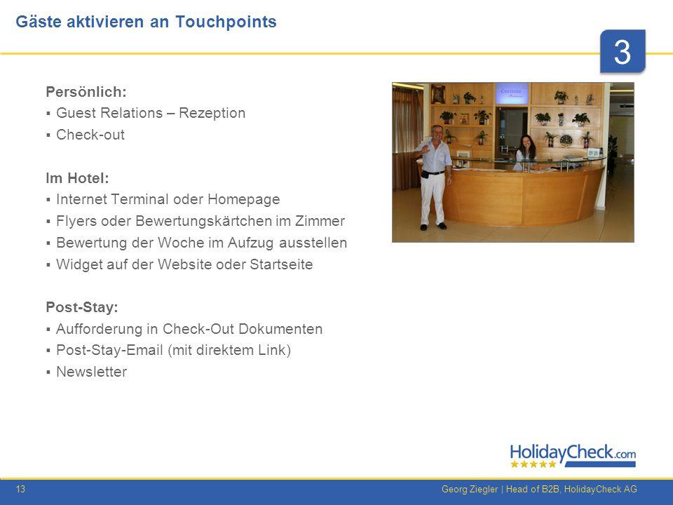 Gäste aktivieren an Touchpoints