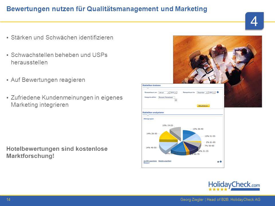 Bewertungen nutzen für Qualitätsmanagement und Marketing