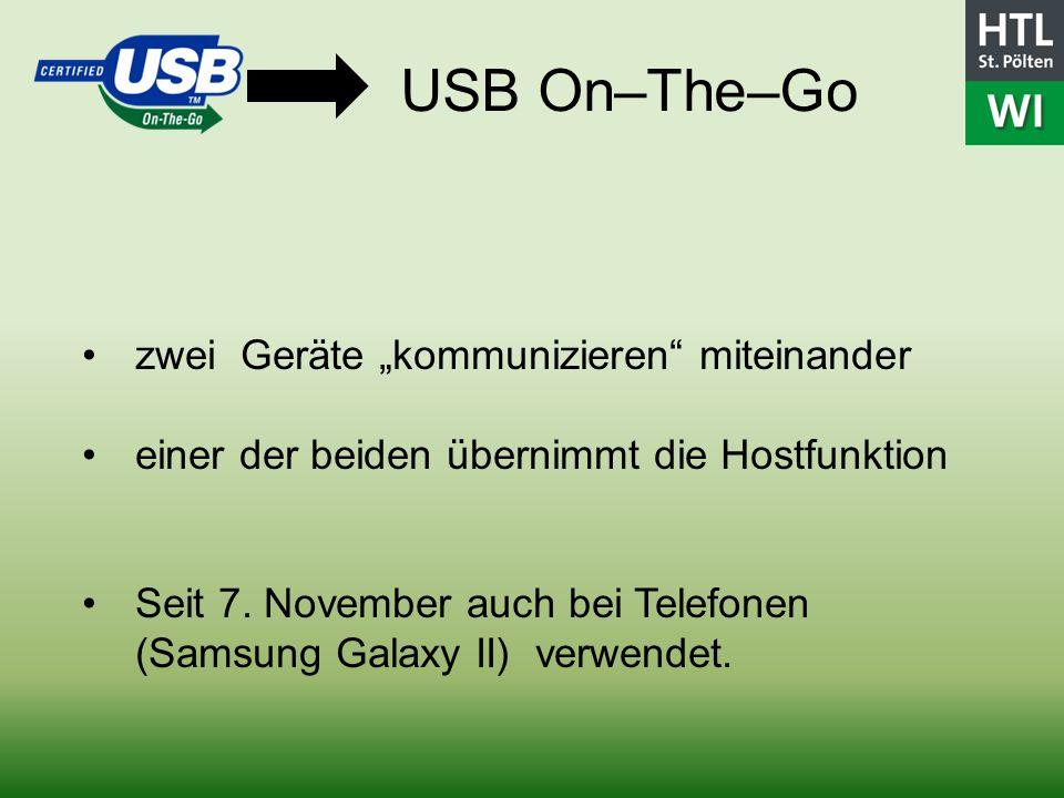 """USB On–The–Go zwei Geräte """"kommunizieren miteinander"""