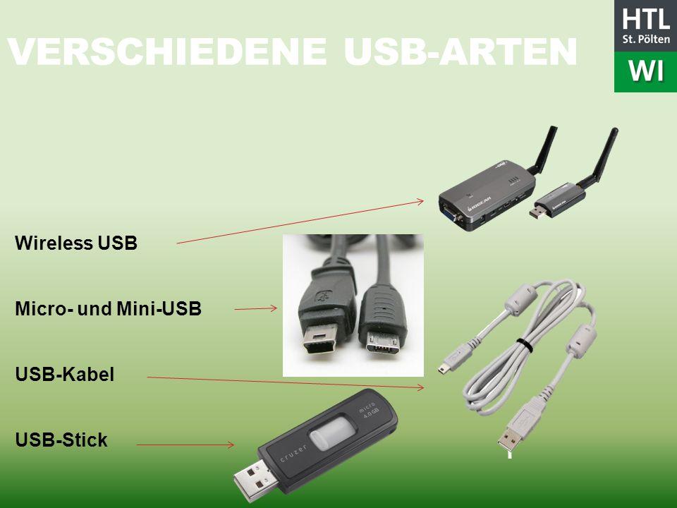 Verschiedene USB-Arten