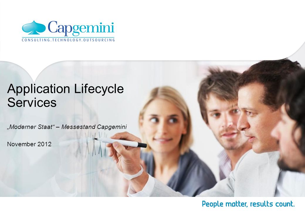 "Application Lifecycle Services ""Moderner Staat – Messestand Capgemini"
