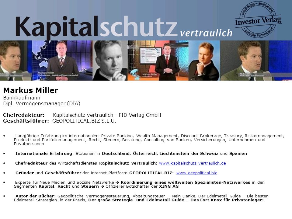 Markus Miller Bankkaufmann Dipl