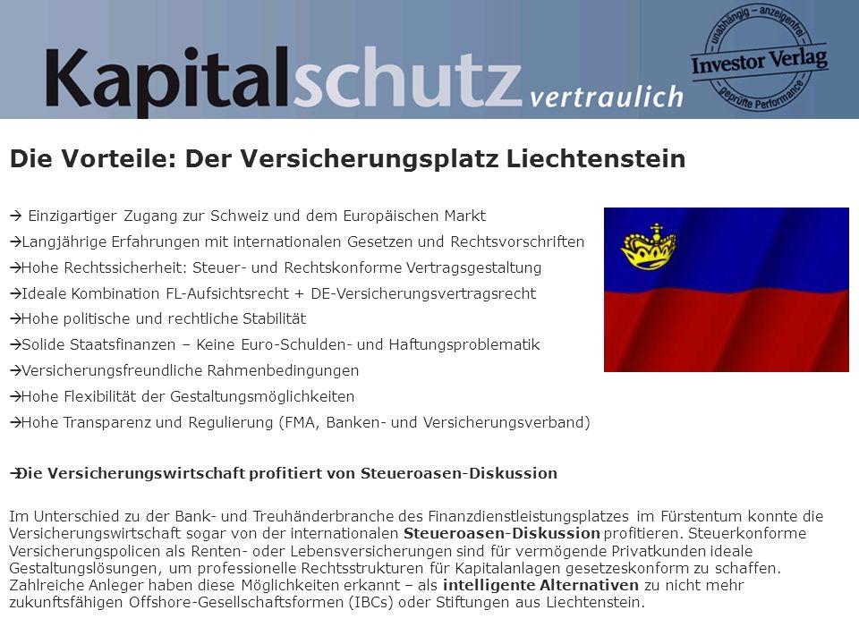 Die Vorteile: Der Versicherungsplatz Liechtenstein