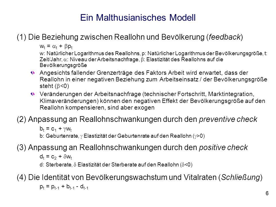 Ein Malthusianisches Modell