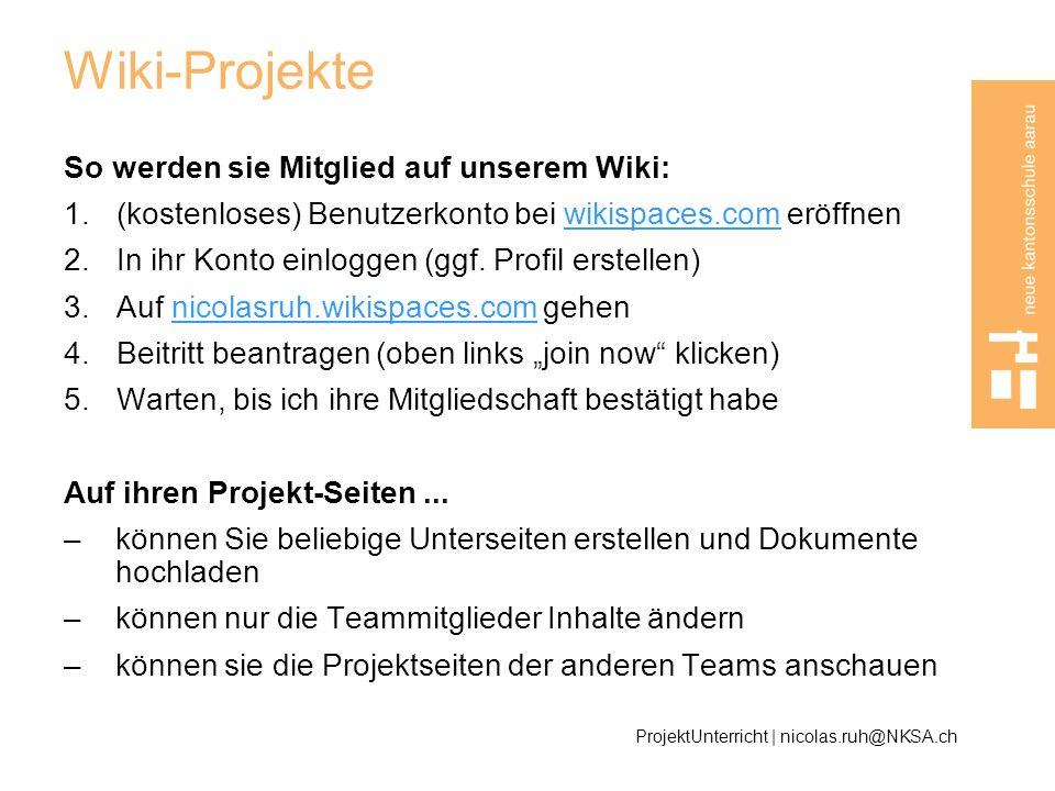 Wiki-Projekte So werden sie Mitglied auf unserem Wiki:
