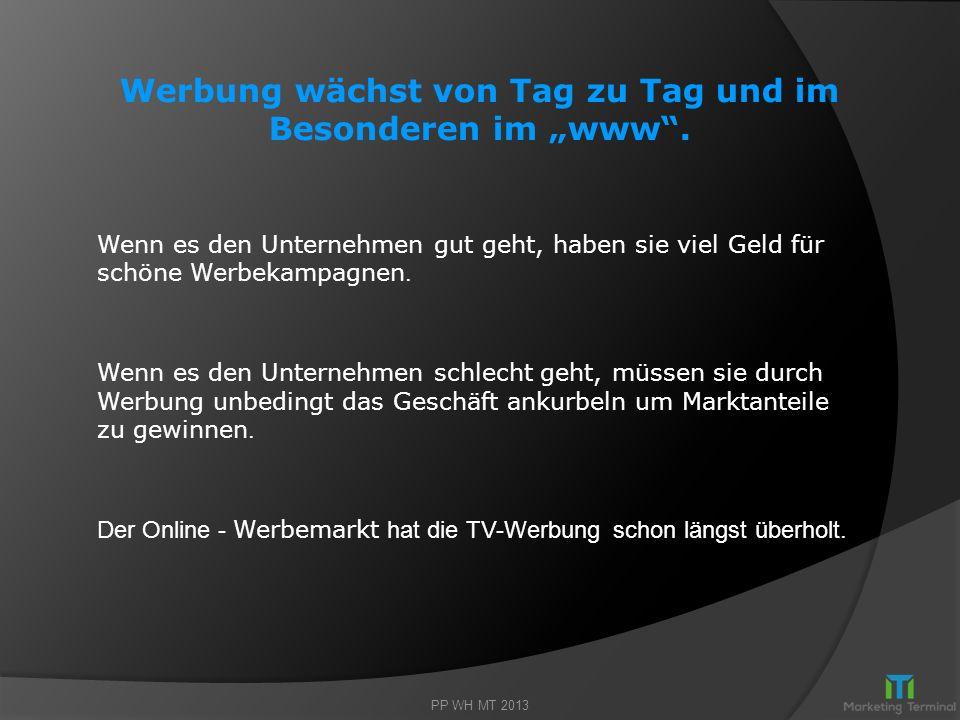 """Werbung wächst von Tag zu Tag und im Besonderen im """"www ."""