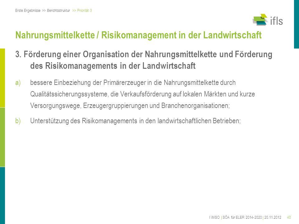 Nahrungsmittelkette / Risikomanagement in der Landwirtschaft