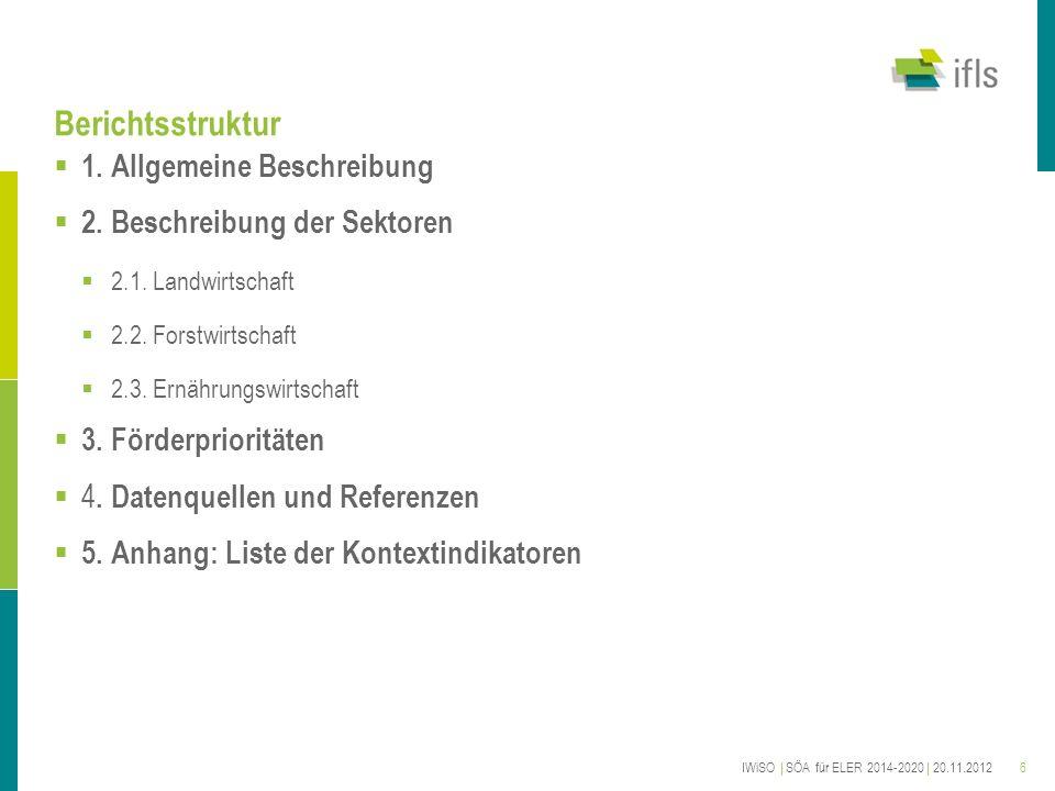 Berichtsstruktur 1. Allgemeine Beschreibung