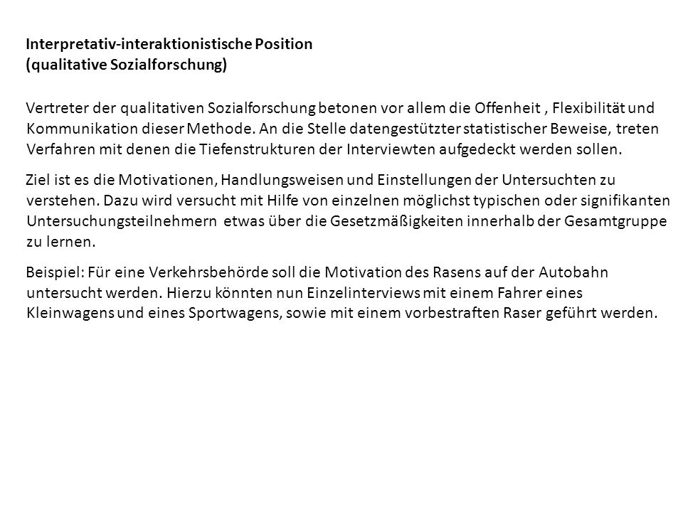 Interpretativ-interaktionistische Position (qualitative Sozialforschung)
