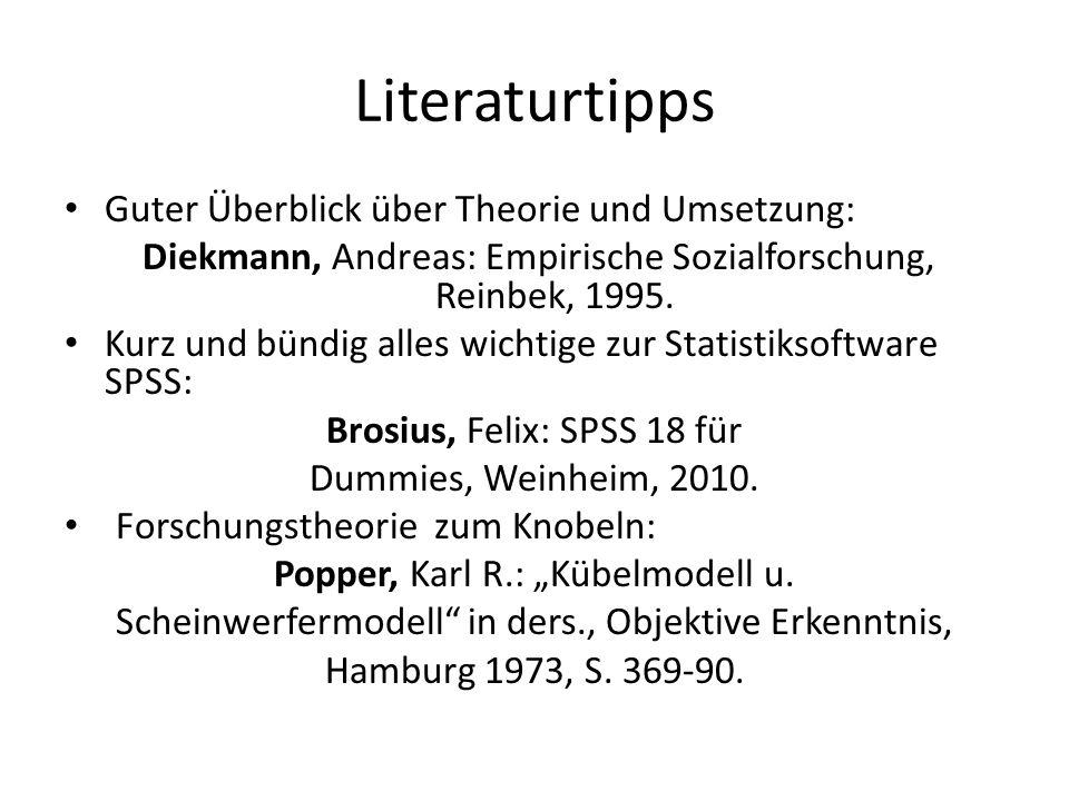 Literaturtipps Guter Überblick über Theorie und Umsetzung: