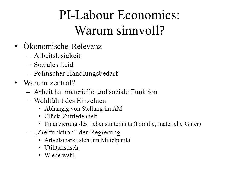 PI-Labour Economics: Warum sinnvoll