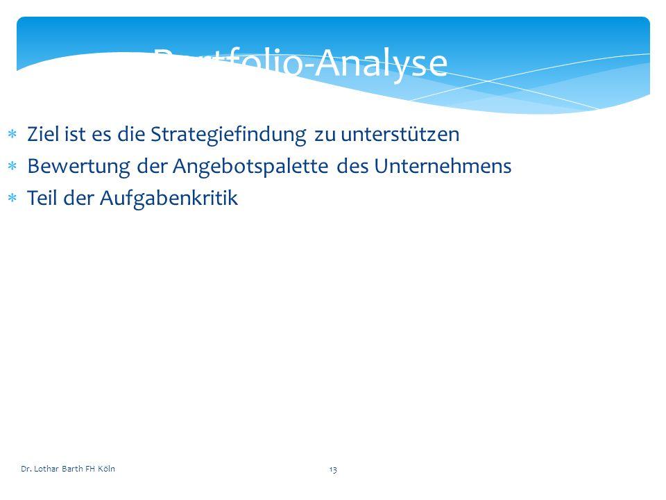 Portfolio-Analyse Ziel ist es die Strategiefindung zu unterstützen