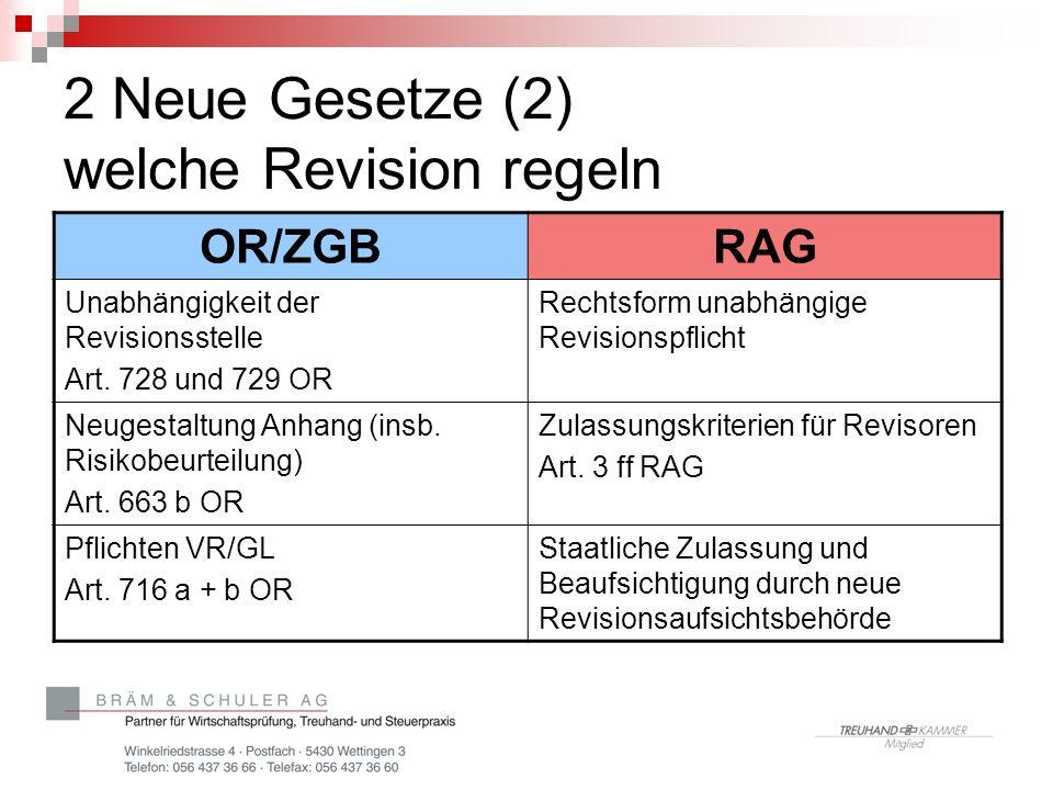 2 Neue Gesetze (2) welche Revision regeln