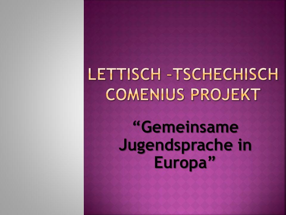 Lettisch –Tschechisch Comenius PROJEKT