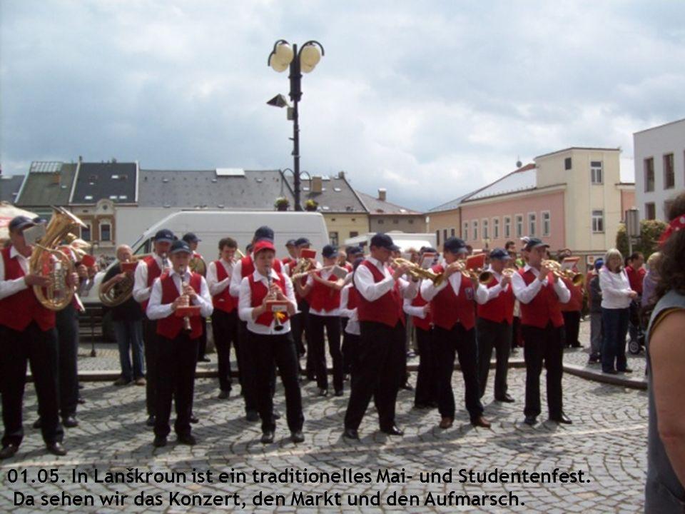 01.05. In Lanškroun ist ein traditionelles Mai- und Studentenfest.