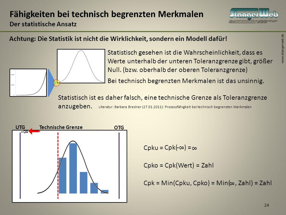 Fähigkeiten bei technisch begrenzten Merkmalen Der statistische Ansatz