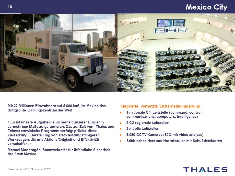 Mexico City Integrierte, vernetzte Sicherheitsumgebung