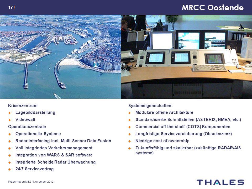 MRCC Oostende Krisenzentrum Lagebilddarstellung Videowall