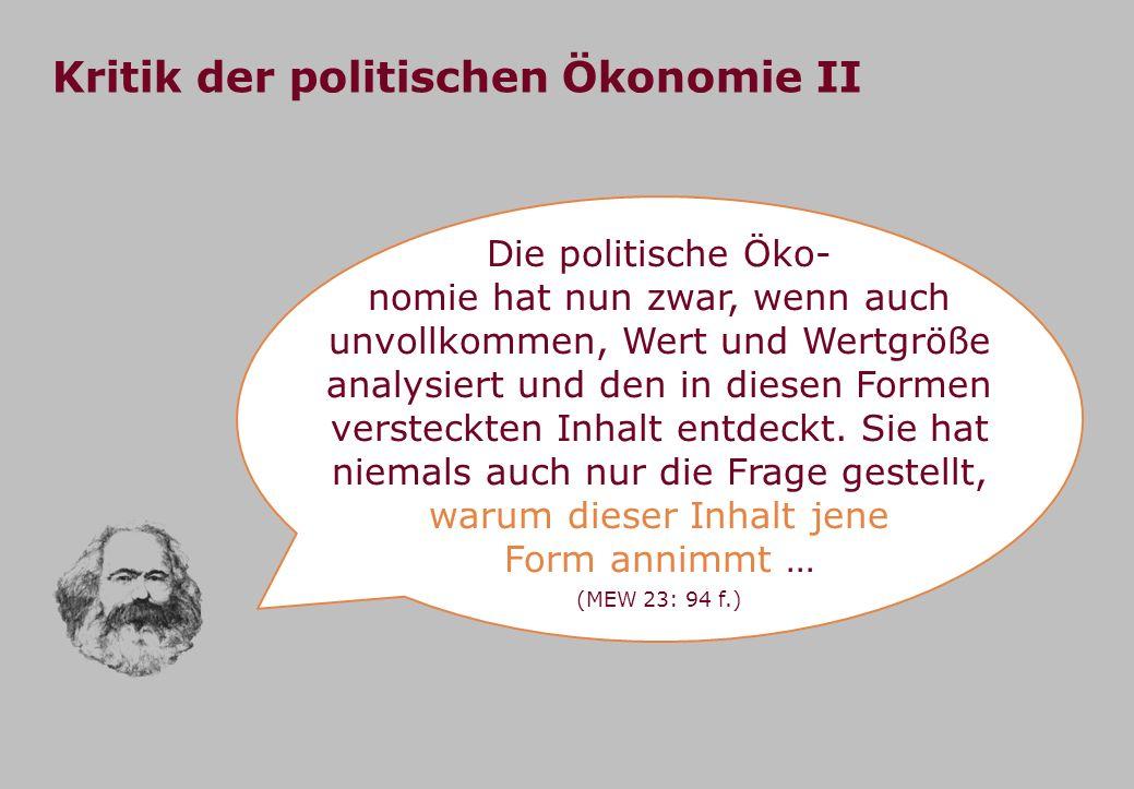 Kritik der politischen Ökonomie II