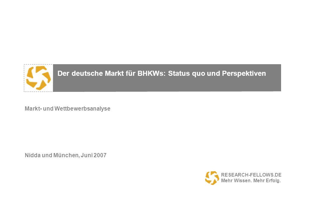 Markt- und Wettbewerbsanalyse Nidda und München, Juni 2007
