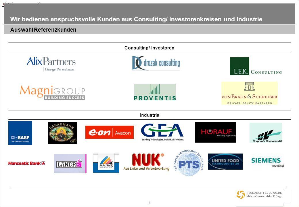 Consulting/ Investoren