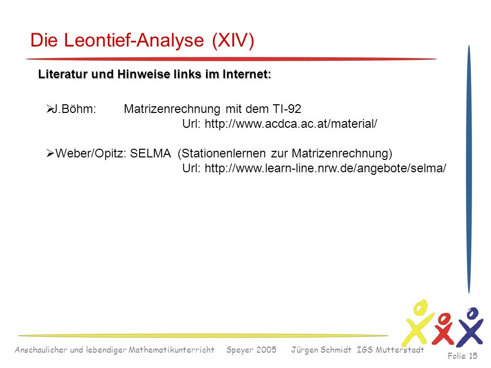 Die Leontief-Analyse (XIV)
